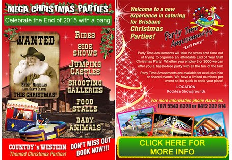 Mega Christmas Party Advertisement