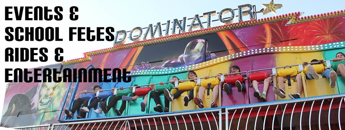 Party Time Amusements Brisbane Amusement Rides website banner